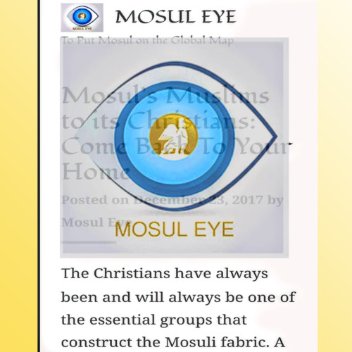 The story of Mosul Eye, the best online source on the war for that Iraqi city. - Lori Hinnant, International Correspondent, AP -  Monday 5/22