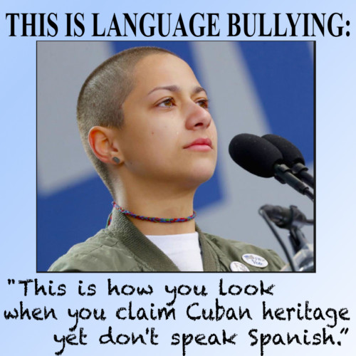 Florida High School Survivor Emma Gonzales Gets Language Bullied. She's Not the Only One. - Russell Contreras - Reporter, Associated Press - Tuesday 4/17