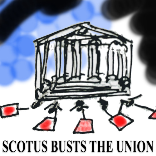 The Janus case liberating reluctant fee-payers from labor unions…extending the First Amendment or abusing it? - Noam Scheiber - NY Times - Tuesday 7/17