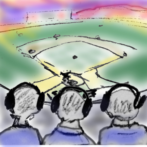 From: Here - Take Me Out to the Ballgame -  Last weekend the stadium lights took hold, and two teams rich in Latino talent took the field.  For three hours or so, my eyes and brain could focus on the game in front of me.